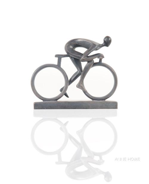 Male Cyclist Figure Cycling Bicycle Art Bike Decor