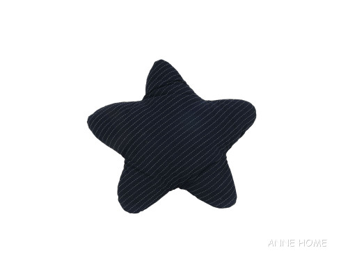 Navy Blue Starfish Shaped Throw Pillows Coastal Decor