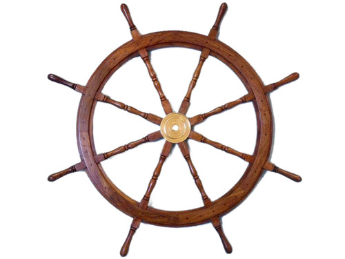 XL Steering Wheel Brass Hub Marine Boat Decor