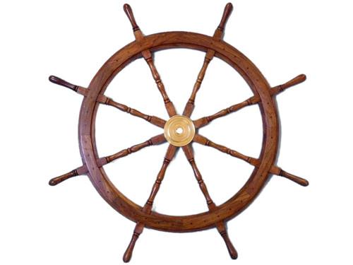 XL Steering Wheel Brass Hub Marine Boat Decor