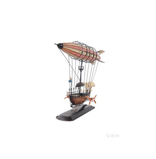 Steampunk Airship 3D Model Blimp Balloon Zeppelin