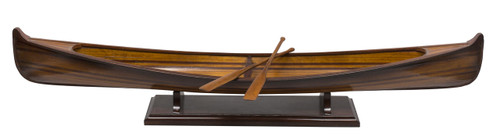 Saskatchewan Canoe Wooden Strip Built Model Boat