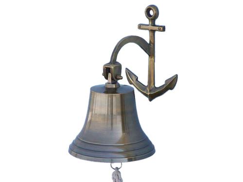 Antique Brass Cast Aluminum Ship Bell Anchor Bracket