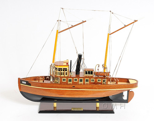 Seguin Tug Boat Wooden Model Steam Towboat