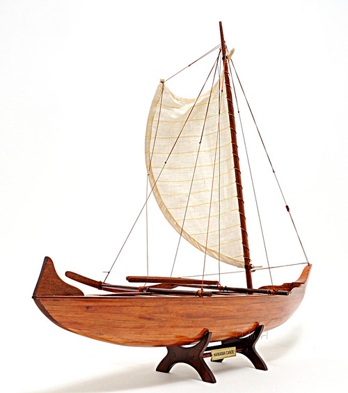 Hawaiian Outrigger Canoe Boat Model Traditional Sailing