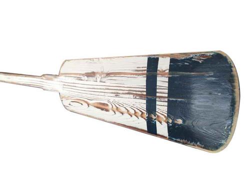 Decorative Rowing Oar Driftwood White Blue Wood Hooks