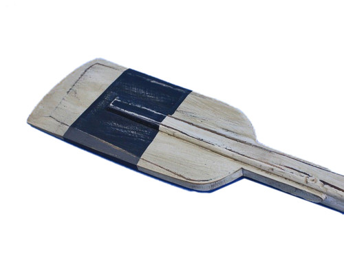 Decorative Wooden Rowing Oar Driftwood White Blue