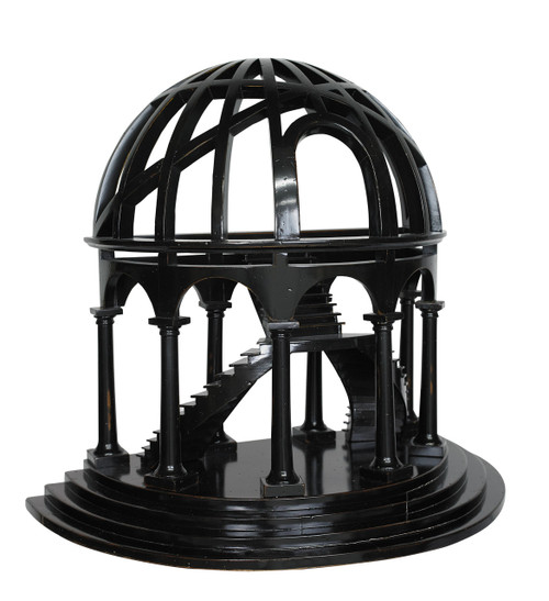 Black Demi-Dome Architectural 3D Wooden Model Dome