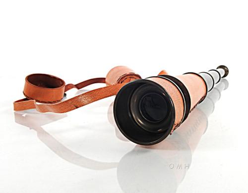 Pirate Spyglass Antiqued Brass Leather Handheld Telescope