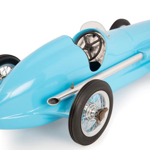 1931 Bugatti Type 51 Metal Model Blue Grand Prix Racing Car