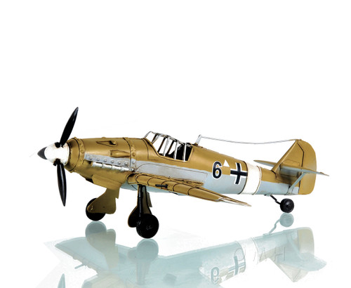 1939 Messerschmitt Bf 109E Fighter Aircraft Metal Model