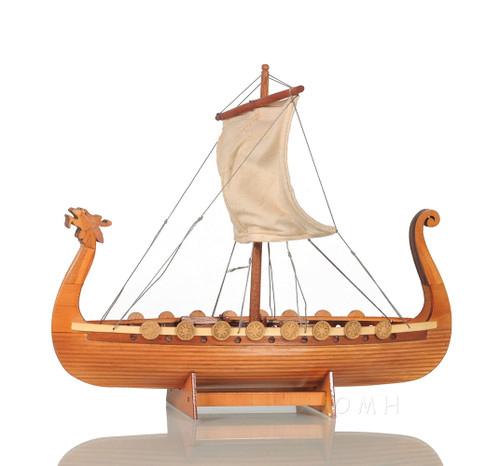 Drakkar Dragon Viking Longship Wooden Model Small