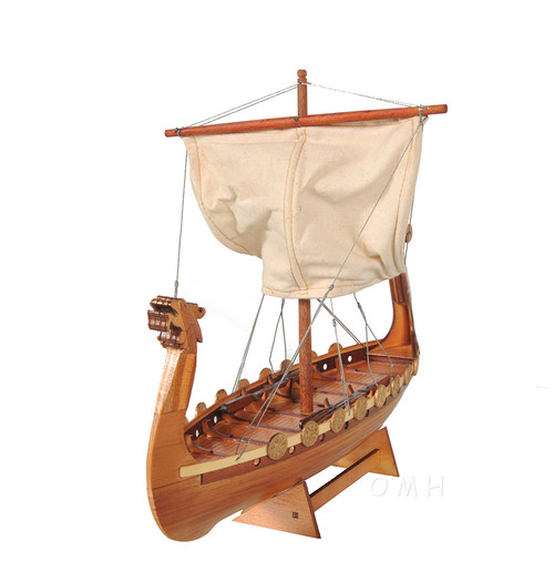 Drakkar Dragon Viking Longship Wooden Model Small