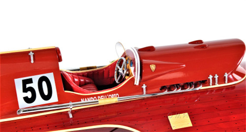 Arno Ferrari Hydroplane Power Speed Boat Wood Model