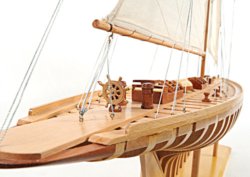Shamrock Open Hull Wood Model Americas Yacht