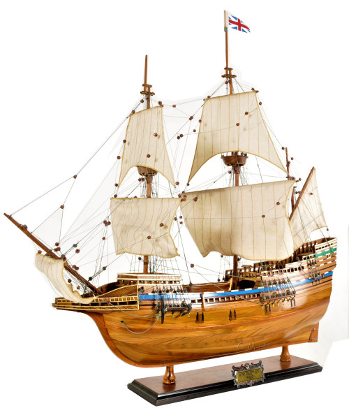 Mayflower 1620 Wood Tall Ship Model Historic Plymouth Pilgrims