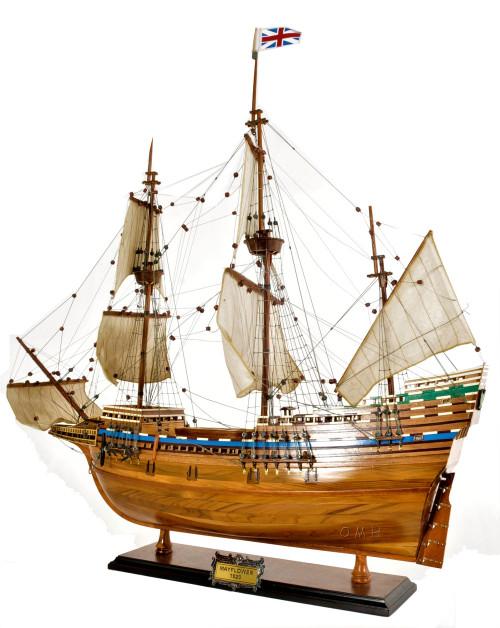 Mayflower 1620 Wood Tall Ship Model Historic Plymouth Pilgrims