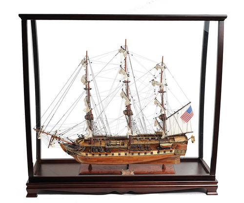 Display Case USS Constitution Old Ironsides Ship Model