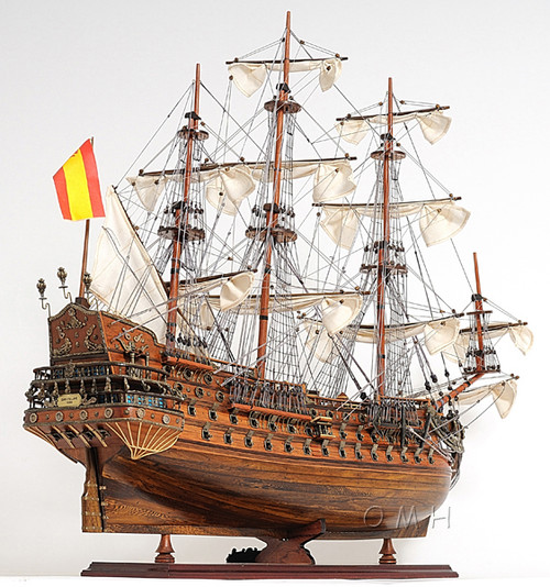 San Felipe Display Case Wooden Tall Ship Model