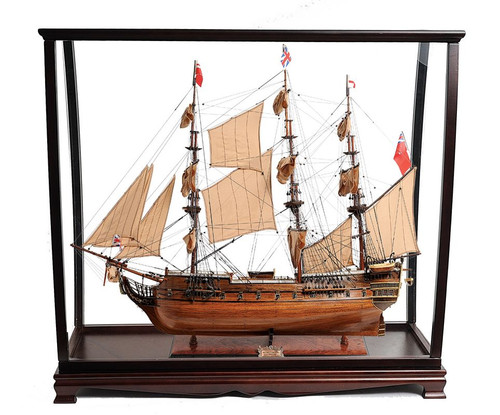 HMS Surprise Tall Ship Model Table Top Display Case