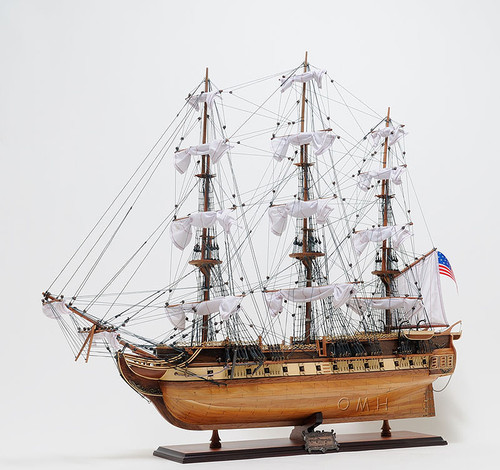 USS Constitution Model Opening Front Display Case