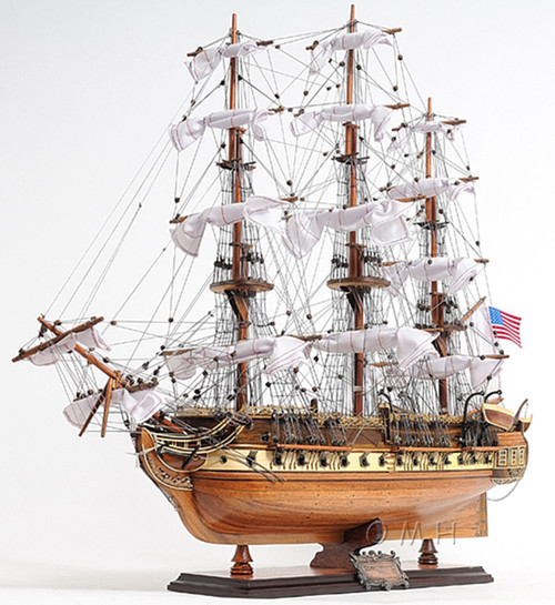 USS Constitution Old Ironsides Model Display Case