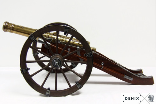 Model Cannon French Louis XIV 18th Century Field Artillery