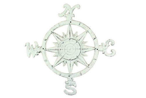 Compass Rose Windrose Bright White Nautical Wall Decor