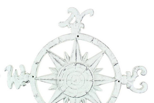 Compass Rose Windrose Bright White Nautical Wall Decor