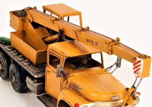 Mobile Crane Boom Truck Metal Model Construction Equipment