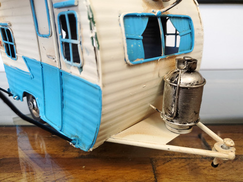 1960s Travel Camping Trailer Model Piggy Bank Photo Frame