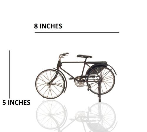 1880s Black Diamond Frame Safety Upright Bicycle Metal Model