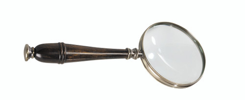 Hands Free Magnifier Magnifying Glass Bronzed Wood Stand