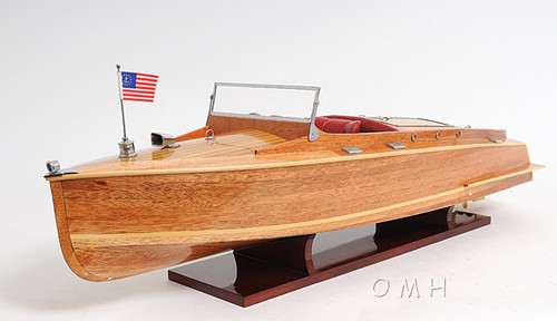 Chris Craft Runabout Wooden Model Power Boat