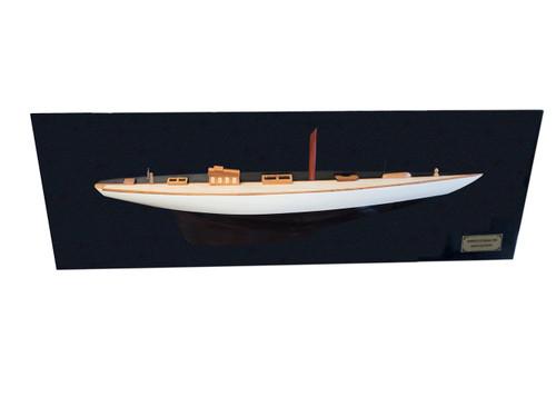 1898 Shamrock I Half Hull Wood Model Americas Cup Yacht Sailboat