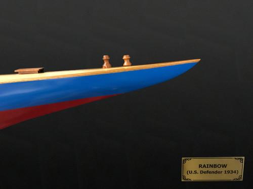 1930 Rainbow J-Class Half Hull Model Americas Cup Yacht