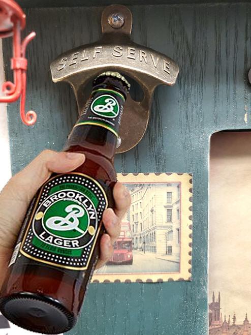Double Decker London Bus Bottle Opener Key Holder Rack