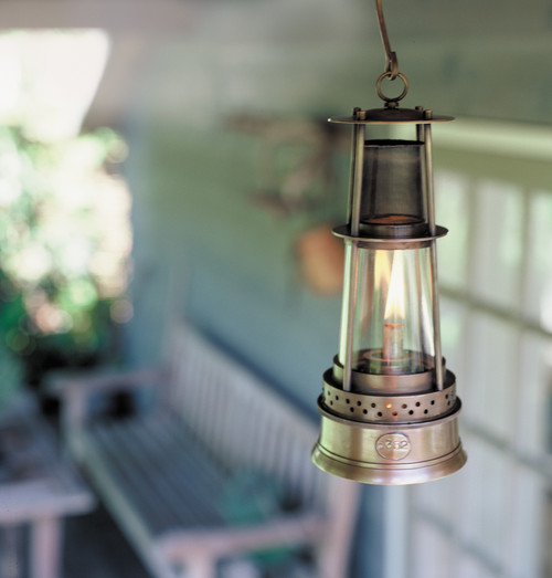 Miners Oil Lamp Bronze Lantern Hanging Camp Light
