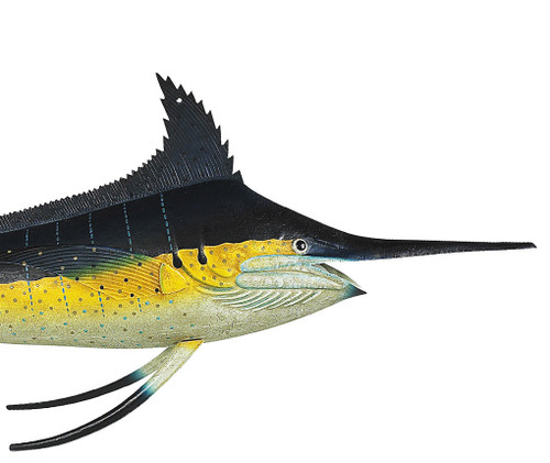 Atlantic Blue Marlin Billfish Fish Offshore Fishing Trade Sign