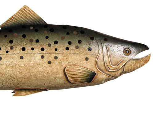 Chinook Coho Salmon Fish Sportfishing Trophy Mount Trade Sign