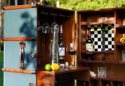 Stateroom Bar Petrol Steamer Travel Trunk Chest Furniture