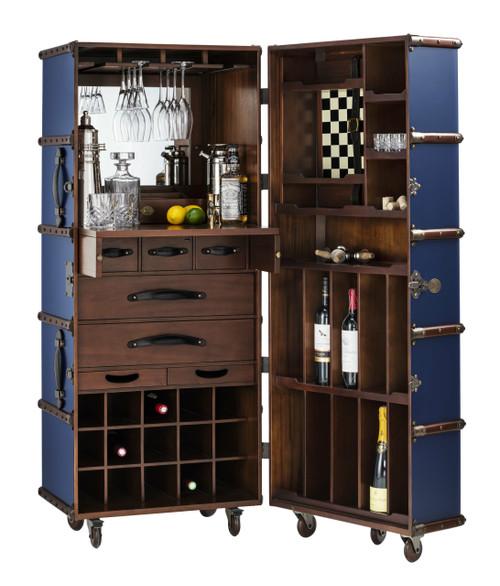 Stateroom Bar Navy Steamer Travel Trunk Storage Furniture