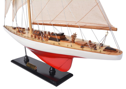 Endeavour L60 Red White Yacht Model Americas Cup J Class Boat
