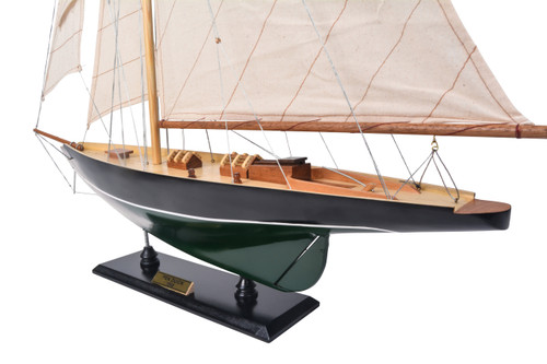Eric Tabarlys Pen Duick Green Yacht Wooden Model Sailboat