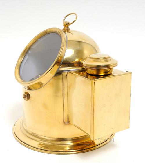 Brass Ships Binnacle Compass Oil Lamp Navigational Decor