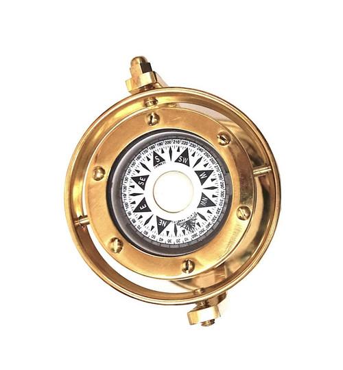 Brass Marine Gimbaled Ship Compass Desk Stand Nautical Decor