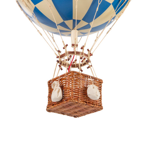 Hot Air Balloon Model Blue White Check Hanging Ceiling Decor
