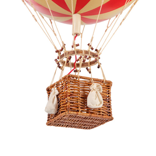 Hot Air Balloon Model Red White Wide Striped Home Decor
