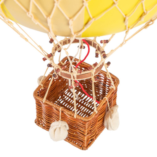 Hot Air Balloon Model Yellow White Wide Striped Ceiling Decor