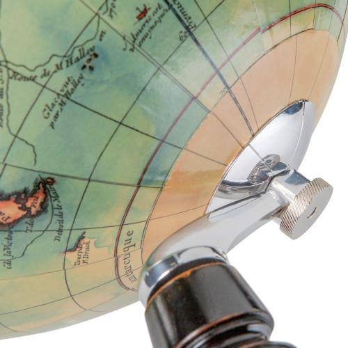 Vaugondy French World Globe 1745 Antiqued Wood Stand